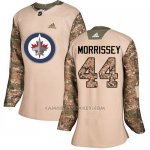 Camiseta Hockey Mujer Winnipeg Jets 44 Josh Morrissey Camo Autentico 2017 Veterans Day Stitched