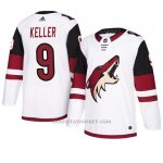 Camiseta Arizona Coyotes Clayton Keller Autentico Away Blanco