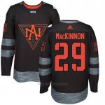 Camiseta Hockey Nino America del Norte Nathan Mackinnon 29 Premier 2016 World Cup Negro