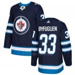Camiseta Hockey Nino Winnipeg Jets 33 Dustin Byfuglien Azul Home Autentico Stitched