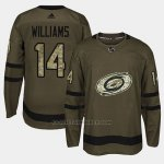 Camiseta Carolina Hurricanes Justin Williams Camo Salute To Service