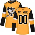 Camiseta Hockey Pittsburgh Penguins Alterno Autentico Personalizada Oro