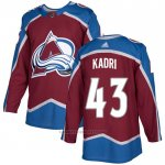 Camiseta Hockey Colorado Avalanche 43 Kadri Primera Autentico Rojo