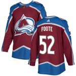 Camiseta Hockey Colorado Avalanche 52 Adam Foote Primera Autentico Rojo