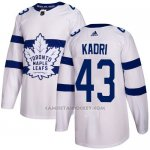Camiseta Hockey Nino Toronto Maple Leafs 43 Nazem Kadri Blanco Autentico 2018 Stadium Series Stitched