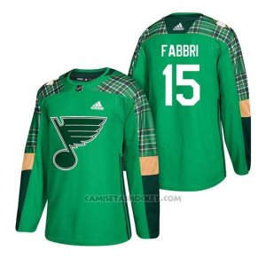 Camiseta St. Louis Blues Robby Fabbri 2018 St. Patrick's Day Verde