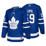 Camiseta Hockey Hombre Toronto Maple Leafs 19 Joffrey Lupul Home 2017-2018 Azul