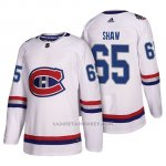 Camiseta Montreal Canadiens Andrew Shaw Nhl100 Classic Blanco