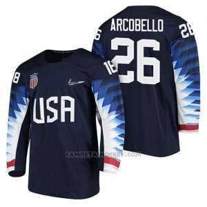 Camiseta USA Team Hockey 2018 Olympic Mark Arcobello 2018 Olympic Azul