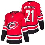 Camiseta Hockey Hombre Autentico Carolina Hurricanes 21 Lee Stempniak Home 2018 Rojo