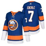 Camiseta Hockey Hombre Autentico New York Islanders 7 Jordan Eberle 2018 Authentic Home Azul