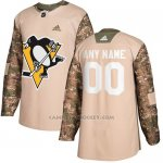 Camiseta Hockey Hombre Pittsburgh Penguins Camo Autentico 2017 Veterans Day Stitched Personalizada