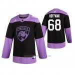 Camiseta Hockey Florida Panthers Mike Hoffman Fights Cancer Negro