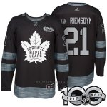 Camiseta Hockey Hombre Toronto Maple Leafs 21 James Van Riemsdyk 2017 Centennial Limited Negro
