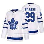Camiseta Hockey Hombre Toronto Maple Leafs 29 William Nylander Away 2017-2018 Blanco