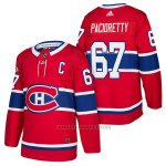 Camiseta Hockey Hombre Autentico Montreal Canadiens 67 Max Pacioretty Home 2018 Rojo