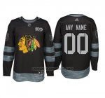 Camiseta Hockey Hombre Chicago Blackhawks Personalizada Negro
