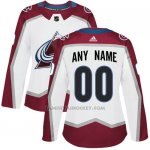 Camiseta Hockey Mujer Colorado Avalanche Personalizada Blanco