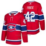 Camiseta Hockey Hombre Autentico Montreal Canadiens 42 Byron Froese Home 2018 Rojo