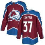 Camiseta Hockey Colorado Avalanche 37 J. T. Compher Primera Autentico Rojo