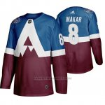 Camiseta Hockey Colorado Avalanche Cale Makar 2020 Stadium Series Azul