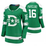 Camiseta Hockey Mujer Dallas Stars Joe Pavelski Breakaway Jugador 2020 Winter Classic Verde