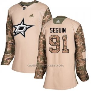 Camiseta Hockey Mujer Dallas Stars 91 Tyler Seguin Camo Autentico 2017 Veterans Day Stitched