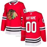 Camiseta Hockey Nino Chicago Blackhawks Primera Personalizada Rojo