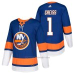 Camiseta Hockey Hombre Autentico New York Islanders 1 Thomas Greiss Home 2018 Azul