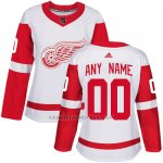 Camiseta Hockey Mujer Detroit Red Wings Segunda Personalizada Blanco