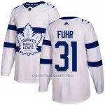 Camiseta Hockey Nino Toronto Maple Leafs 31 Grant Fuhr Blanco Autentico 2018 Stadium Series Stitched