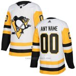 Camiseta Hockey Nino Pittsburgh Penguins Segunda Personalizada Blanco