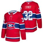 Camiseta Hockey Hombre Autentico Montreal Canadiens 32 Mark Streit Home 2018 Rojo