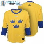 Camiseta Hockey Nino Suecia 2016 World Cup Amarillo
