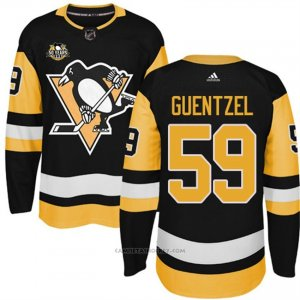 Camiseta Hockey Hombre Pittsburgh Penguins 59 Jake Guentzel Negro 50 Anniversary Home Premier