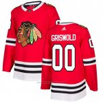 Camiseta Hockey Chicago Blackhawks 00 Clark Griswold Primera Autentico Rojo