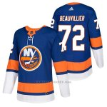 Camiseta Hockey Hombre Autentico New York Islanders 72 Anthony Beauvillier Home 2018 Azul
