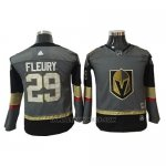 Camiseta Hockey Nino Vegas Golden Knights 29 Marc-andre Fleury Gris Home Autentico Stitched