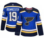 Camiseta Mujer St. Louis Blues 19 Jay Bouwmeester Blue Adizero Jugador Home