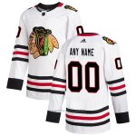 Camiseta Hockey Chicago Blackhawks Personalizada Segunda Autentico Blanco