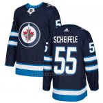 Camiseta Hockey Nino Winnipeg Jets 55 Mark Scheifele Azul Home Autentico Stitched