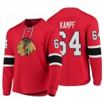 Camiseta Chicago Blackhawks David Kampf Adidas Rojo