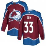 Camiseta Hockey Colorado Avalanche 33 Patrick Roy Primera Autentico Rojo