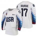 Camiseta USA Team Hockey 2018 Olympic Chris Bourque 2018 Olympic Blanco