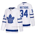 Camiseta Hockey Hombre Toronto Maple Leafs 34 Auston Matthews Away 2017-2018 Blanco