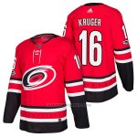 Camiseta Hockey Hombre Autentico Carolina Hurricanes 16 Marcus Kruger Home 2018 Rojo