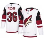 Camiseta Arizona Coyotes Christian Fischer Autentico Away Blanco
