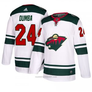 Camiseta Hockey Hombre Minnesota Wild 24 Matt Dumba Blanco 2018 Away