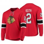 Camiseta Chicago Blackhawks Duncan Keith Platinum Rojo
