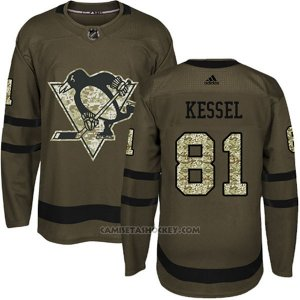 Camiseta Hockey Hombre Pittsburgh Penguins 81 Phil Kessel Salute To Service 2018 Verde